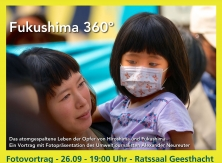 Mutter mit Kind in Fukushima