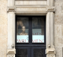 Fenster, Parlament, Schaufensterpuppe